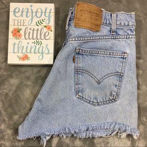Vtg Levi's 550 Jean Shorts Cutoffs Orange Tab